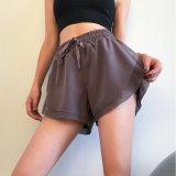 Shorts Fitness High-Waisted esticar apertado executando Pants Quick-Dry executando Pants Outono Calças de ioga Mostrar Elegância