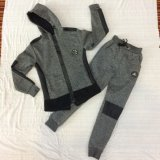 Vestiti delle tute sportive del ragazzo del cuoio di contrasto del panno morbido in abito Sq-6449 dei capretti