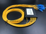 광학 섬유 케이블 Gpon 원거리 통신 1X16 아BS 상자 PLC 쪼개는 도구 Sc/Upc