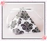 Hot pyramide damassés boîtes faveur de Mariage / Coffrets cadeaux de mariage (JCO-392A)