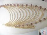 Mehrschichtige handgemachte Halskette (0706)