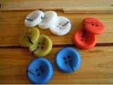 Botón multicolor aprobado del poliester de la prueba del estándar europeo
