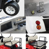Artículos deportivos eléctricos coche de golf con 6 plazas blanco rojo