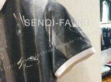 La camicia di polo dell'uomo di modo di Pirnt dello Splatter dei fogli con il collare del basamento nell'usura di sport dell'uomo copre Fw-8651