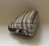 Sacchetti cosmetici del reticolo della tela di canapa delle coperture delle donne geometriche di figura, sacchetti di trucco