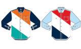 Hülsen-Hemd der Männer langes Baumwol(JTWS003)