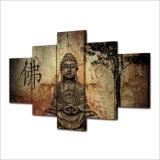 HD druckte Buddha-Gruppen-Farbanstrich auf Segeltuch-Raum-Dekoration-Druck-Plakat-Abbildung Segeltuch gestaltetes Mc-013
