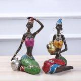 Arte negra moças africanas Figurine Decoração Africana Lady Artesanato