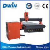 Couteau à grande vitesse de gravure de commande numérique par ordinateur de laser en bois Dwin1325 découpant la machine de portes