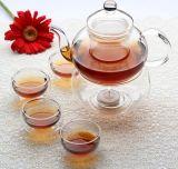 Набор для приготовления чая из стекла ручной работы - с Teapot подогреватель детского питания при свечах, двойные стенки чашку чая друзьями вместе для приготовления чая