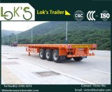 (Fait en Chine) semi-remorque de lit plat du charriot 3axles de 40FT