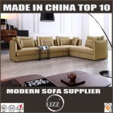 L de canto da forma do couro do sofá sofá para baixo