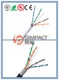 Cable sólido CCA UL/Ce/RoHS/ISO de UTP Cat5e