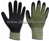 Enduit de latex de gant de travail sur la paume (LCS3019)