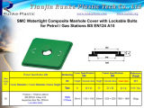 SMC Fiberglass Reinforced Plastic Composite étanche Manhole Cover