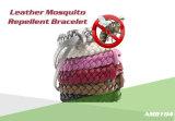 Bracelet normal de produit répulsif de moustique de cuir de pétrole d'essence de 100%