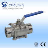3 parti Stainless Steel 304/316 di Thread millimetro Ball Valve