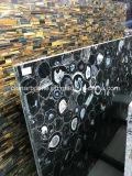 China-blauer Achat-Halbedelsteinplatten für Dekoration