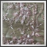 花によって刺繍されるレースのナイロン網の刺繍のレースのテュルの刺繍のレース
