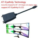 DVI Adapter Cable Active Dp에 DVI Single Link Adapter Cable Support 6 LCD에 액티브한 Ati Eyefinity Active Mini Displayport