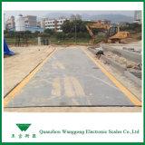 Balance de camion utilisée pour le management de déchets solides