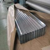Hoja de acero galvanizada acanalada hoja de la azotea para el material de construcción