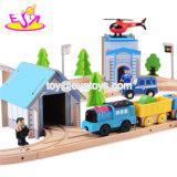 Новые популярные 80 моделирования ПК железнодорожной установить деревянные поезда игрушки для детей W04c079