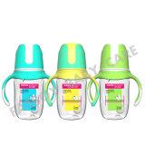 Frasco de alimentação largo do bebê da boca dos PP com punho BPA livre