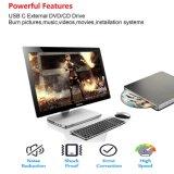 Mac/PC/Laptopの外部DVD駆動機構プレーヤー(灰色)
