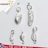 925 Silver Accessoires Silver Leaf personnalisé de gros feather poignée de commande manuel de la poignée de commande DIY Bracelet Poignée de commande