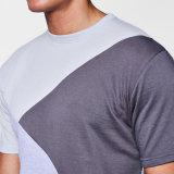 Maglietta del cotone della spalla di goccia del blocchetto di colore & tute sportive di Shorts
