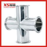 1-1/2Croix sanitaires en acier inoxydable avec extrémités de serrage