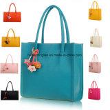 Fiore di modo delle donne che appende il doppio sacchetto di acquisto Pendant della borsa della spalla