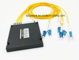 Wdm de fibra óptica 4CH de 2,0 mm Caja de plástico con conector LC
