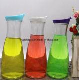 Glasflasche der Milch-1000ml mit Plastikschutzkappe