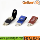 High-End de Schijf van de Flits van het Leer USB van de Giften van de Reclame 32GB