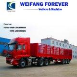 3 Wellen-langer gerader Zaun-Sperren-Ladung-LKW-halb Schlussteil mit hoher Sperre für allgemeine Ladung-Transport