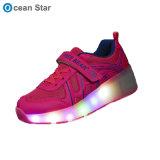 熱い販売の方法LED軽い靴のローラーはHeelysの靴に蹄鉄を打つ