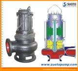 Non-Bloccare la pompa sommergibile di drenaggio delle acque luride centrifughe delle acque di rifiuto con l'accoppiamento automatico (WQ), la pompa buona profonda, la pompa dello stagno, la pompa del giardino, il pozzetto sommerso, pompa dei residui