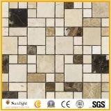 Flor polido mosaicos de jacto de água em mármore para pavimentos