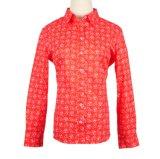 Lange het Overhemd van Dame Tops Printed van de Manier van het Kledingstuk van de Koker Blouse
