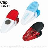 Clip magnétique en plastique de l'alimentation, cadeau promotionnel Clip magnétique