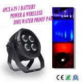 4PCS*15W de puissance de la batterie de Noël & sans fil DMX par la lumière