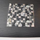 Mattonelle di mosaico di cristallo della miscela del metallo del quadrato nero di buona qualità