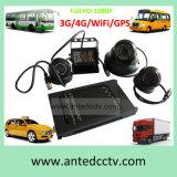 Sistema de vigilância automotriz de 4 câmeras para táxis dos carros dos barramentos dos veículos