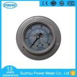 Tipo traseiro calibre de pressão enchido líquido com flange