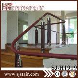 La barandilla de cristal de madera del acero inoxidable del diseño moderno en escalera parte (SJ-S085)
