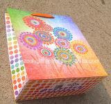 O saco do presente do papel de impressão do girassol com decorativo Shinny o diamante