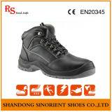 Sapatas de segurança superiores do tampão do dedo do pé do material e do aço do couro genuíno