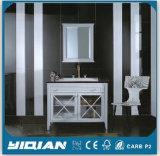 Weißer Badezimmer-Eitelkeits-Schrank für uns amerikanischer Markt und Hotel projektiert (7001)